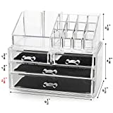 unique small bathroom storage Unique Home New Design Bottom Layer Increase Fits Most Conceal Acrylic Makeup Organizer and Cosmetic Make Up Organizer Countertop Storage Box Brush Holder Clear Jewelry Organizer Bathroom Vanity Tray