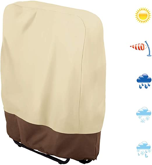 Funda para sillas plegables para exteriores, tela impermeable Oxford 190T, 93 x 82 cm, color beige: Amazon.es: Hogar