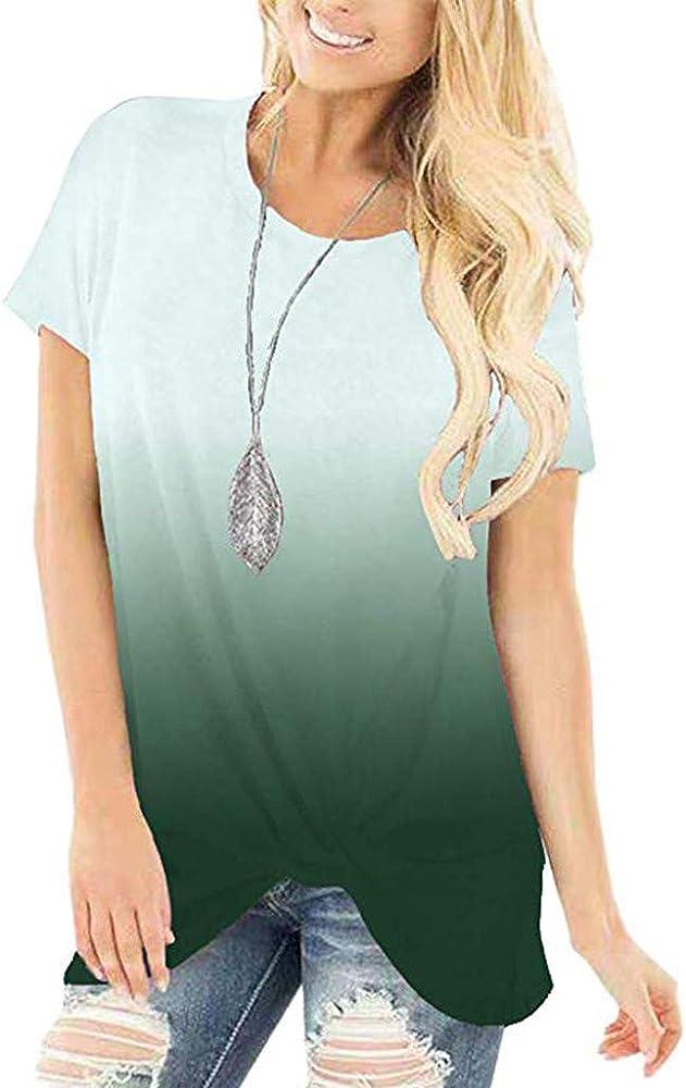 Moonuy T - Camiseta de Mujer de Verano, de Moda graduada ...