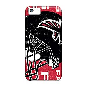 Rugged Skin Case Cover For Iphone 5c- Eco-friendly Packaging(atlanta Falcons)