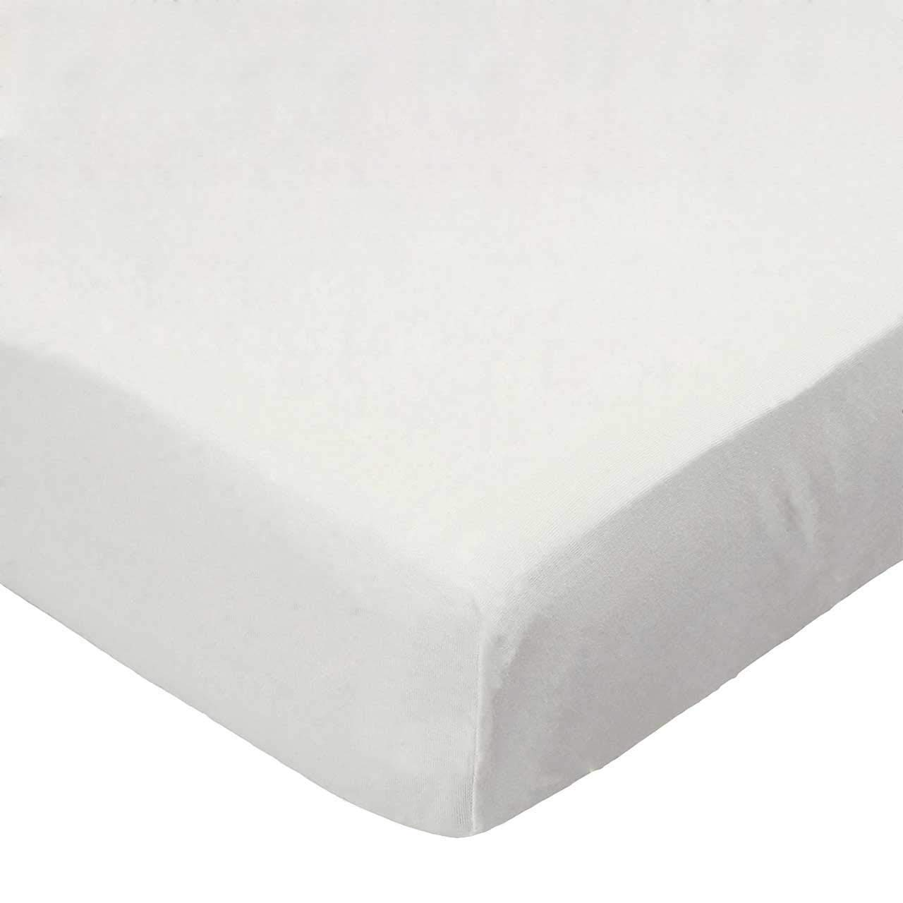 SheetWorld Fitted Crib / Toddler Sheet - Organic Ivory Jersey Knit - Made In USA by sheetworld   B004OSZHKC