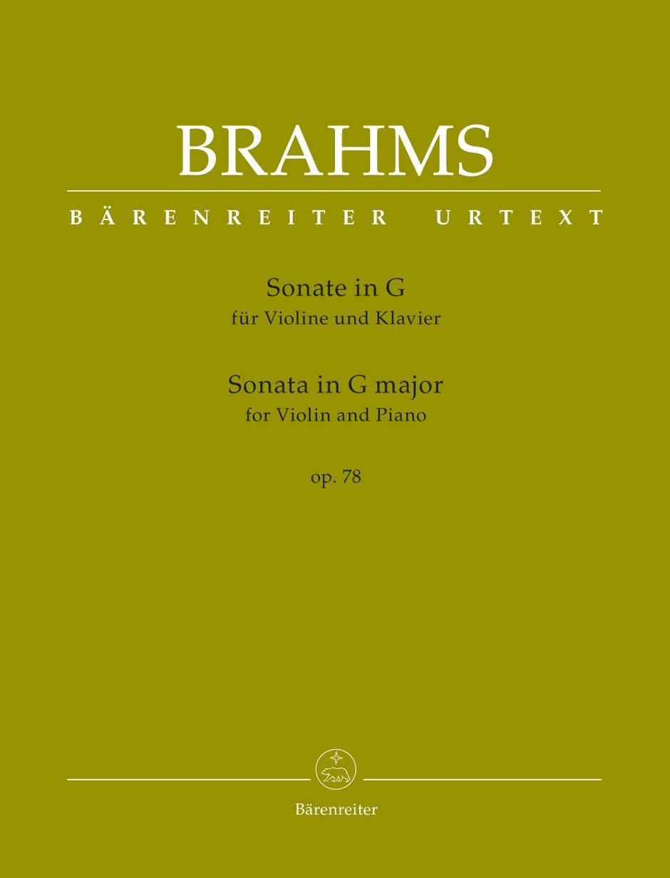 Sonate für Violine und Klavier G-Dur op. 78. Spielpartitur mit einer Urtext-Solostimme und einer eingerichteten Solostimme von Clive Brown, Urtextausgabe