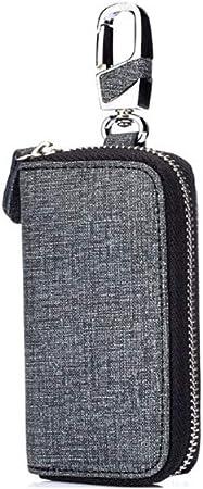Uioy Estuche para Llaves Vertical Cuadrado - Estuche para Llaves multifunción de Mezclilla para Hombres (Color : Gray, Size : 11 * 5cm): Amazon.es: Hogar