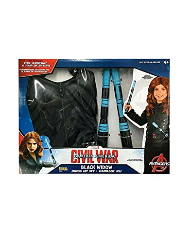 Black Widow Marvel Captain America: Civil War Dress Up Deluxe Set w/ Batons]()