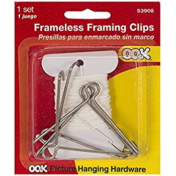 OOK Frameless Gallery Clip Kit 4 Pack