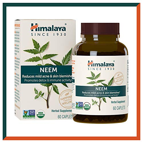 Himalaya USDA Neem Caplets | For Clear Skin, Acne & Pimple Remedy | Promotes Immunity & Detox for Healthier Skin | High…