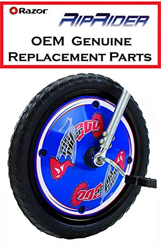 - Blue Riprider Front Wheel with Pedals and Cranks Replacement Parts for Razor Rip Rider 360