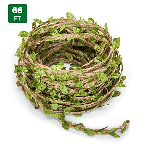 66 Feet Artificial Vine Fake Foliage Leaf Plant Garland Rustic Jungle Vines Wedding Home Decor from chuangxindaye
