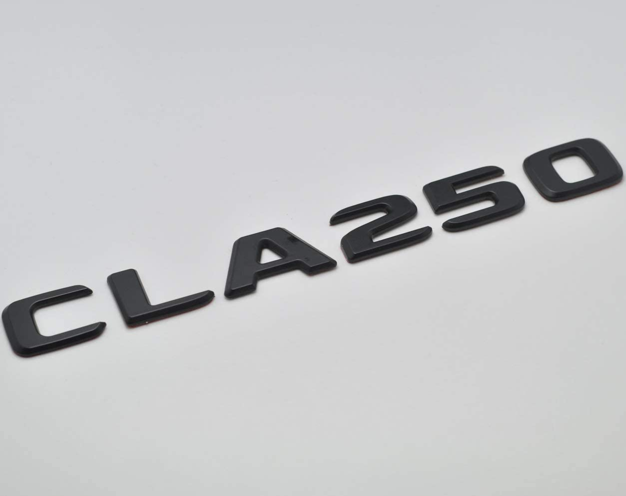 C117 Models C118 AMG Matt Black CLA 250 Flat Lettering Rear Boot Lid Trunk Badge Emblem For Benz CLA Edition Class