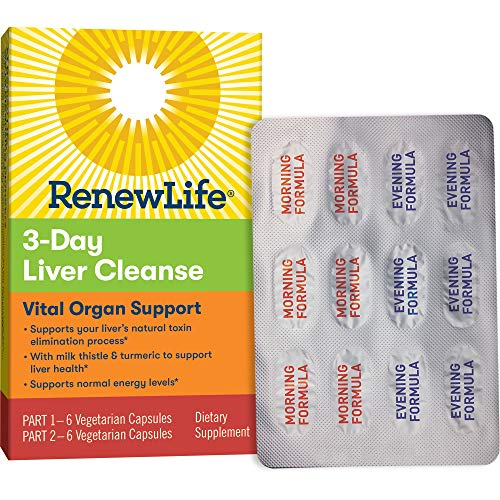 Renew Life Adult Cleanse - 3-Day Liver Cleanse - Vital Organ Support - 2-Part, 3-Day Program - Gluten, Dairy & Soy Free (Dr Oz 3 Day Cleanse)
