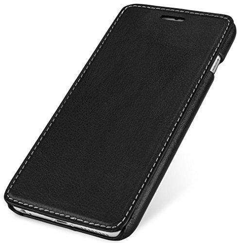 """StilGut Book Type Case ohne Clip, Hülle aus Leder für Apple iPhone 6 Plus & iPhone 6s Plus (5.5""""), schwarz nappa"""