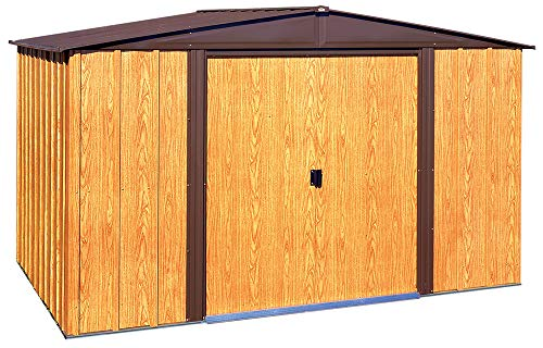 - Arrow WL108 Woodlake 10-Feet by 8-Feet Steel Storage Shed