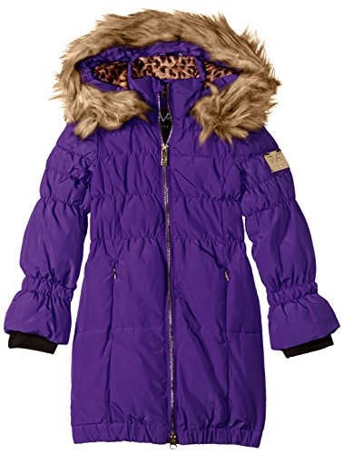 Versace 1969 Sportivo Big Girls' VG Long Down Coat, Petunia, - Versace Girl