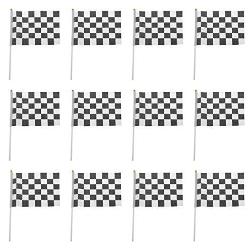 Baoblaze Durable F1 Formula One Racing Speed Games Flag Hand Waving Banner Set of - Racing Flags F1