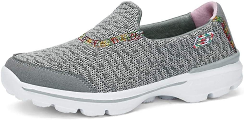 Zapatillas de Correr para Mujer Al Aire Libre Resbalón Transpirable Mocasines Zapatillas Deportivas para Mujeres Caminar Correr: Amazon.es: Zapatos y complementos