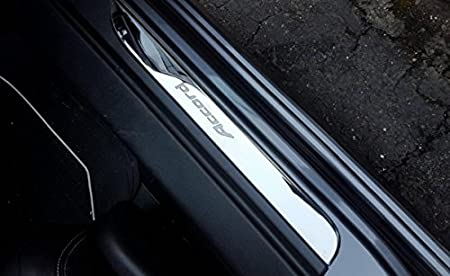 White OLIKE for Honda Accord 2013 14 15 16 2017 9TH Sedan Hatchback Fashion Style ABS+Chrome Door Sill Scuff Plate Guard Sills Protector Trim