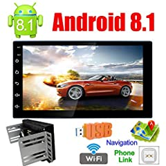 Operate System: Latest Android 8.1CPU: Quad-core CPU ProcessorScreen Size: 7 Inch In Dash RAM Memory: 1GB DDR3ROM: 16GB Touch Screen: Capacitive Multi-Touch Screen NO DVD/CD Function★Fit for: for All Universal 2Din Cars If you are not sure wh...