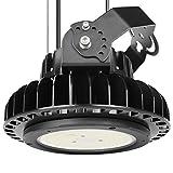 Adiding LED High Bay Lighting,150W UFO Hi Bay Light 130 Lm/W Lumileds SMD 3030 LED 19500 Lumens(600W HID/HPS equivalent) 5000K Dimmable MeanWell Driver for Garage Warehouse Workshop DLC UL,Black