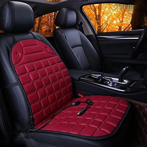 - Sedeta Red Grid heating car seat cover heated cushion chair mat pad protector for driver four seasons interior supplies