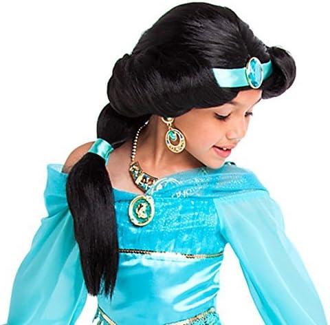Tienda de Disney Princess Jasmine disfraz peluca ~ Niñas: Amazon ...