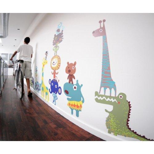 Pop and Lolli Cutesy Characters Jiving Jungle Pals Wall Stickers Lollipop Jungle Wall