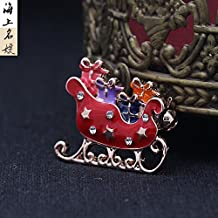 Chrisas lovely ladies jewelry drop of oil at sea cartoon brooch pin brooch sweater coat small