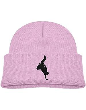 Kids Fashion Hip Hop Breaking Dancing Silhouette Casual Flexible Winter Knit Hats/Ski Cap/Beanie/Skully Hat Cap