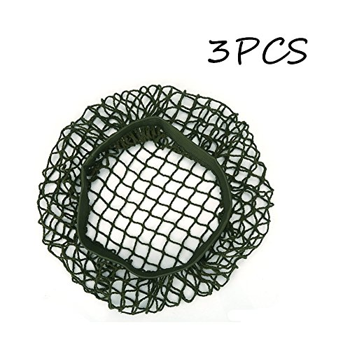 Tactical Helmet Net Cover 3 PCS Army Green Nylon Helmet Camouflage Netting for M1 M35 M88 Helmet