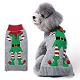 #7: HAPEE Dog Sweaters for Christmas Santa Pet Cat Clothes,Dog Accessories, Dog Apparel