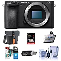 Sony Alpha a6500 Mirrorless Digital Camera Body - Bundle with 16GB SDHC U3 Card, Holster Case, Cleaning Kit, Memory Wallet, Card Reader, Software Package