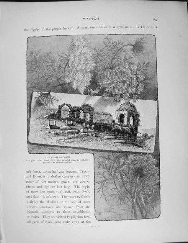 Palestine 1881 Tomb Noah Arab Shrine Ba'Albek Duris