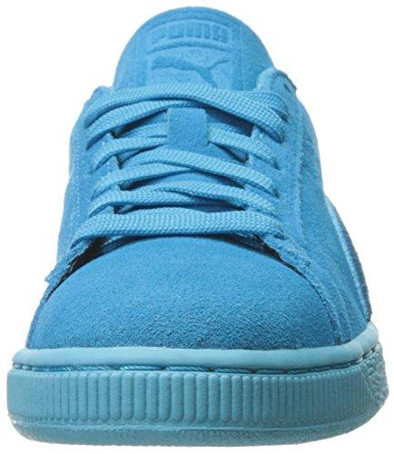 Sneaker classico con distintivo in pelle scamosciata da uomo, atollo blu, 5 M US