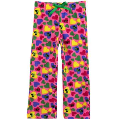 John Deere Boys and Girls Fleece Pajama Pants (S (4), Pink Tractor Hearts)
