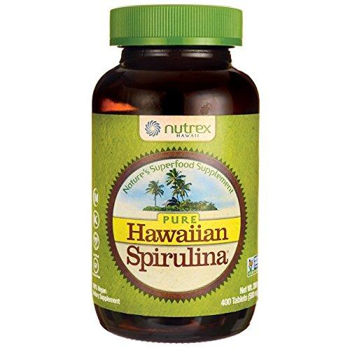 Nutrex Hawaii Pure Hawaiian Spirulina Pacifica - 500 mg - 400 Tablets, Health Supplements, Natural Supplements GMO Free - Natural Hawaiian Spirulina