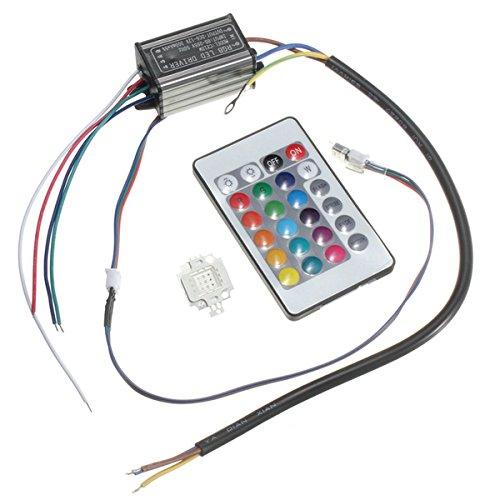 HTAIYN 10W RGB-Chip-Glühlampe Wasserdichtes LED-Treibernetzteil mit Fernbedienung LED-Licht LED-Licht LED-Licht 1d882c