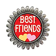 GiftJewelryShop Ancient Style Silver Plate Best Friends Sunflower Pins Brooch