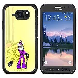 """Be-Star Único Patrón Plástico Duro Fundas Cover Cubre Hard Case Cover Para Samsung Galaxy S6 active / SM-G890 (NOT S6) ( Púrpura Antiguo Pimp - Gracioso"""" )"""
