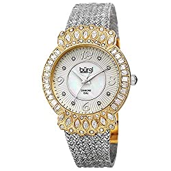Women's Crystal Watch with Diamond Hour Markers