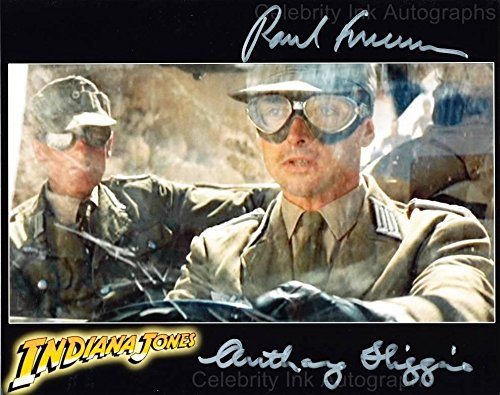PAUL FREEMAN and ANTHONY HIGGINS as Dr. Rene Belloq and Gobler - Raiders Of The Lost Ark GENUINE AUTOGRAPHS from Celebrity Ink