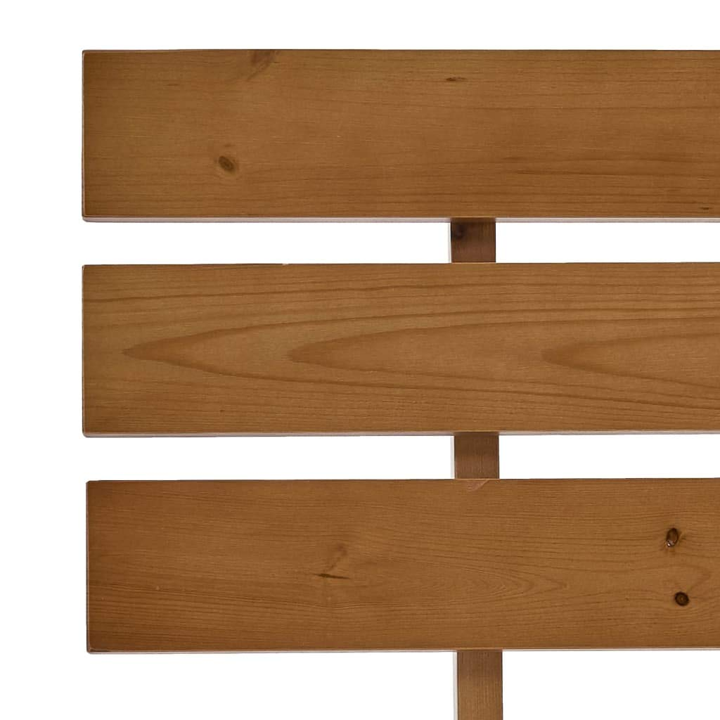 mewmewcat Estructura de Cama Madera Maciza Pino marr/ón Miel 100x200 cm