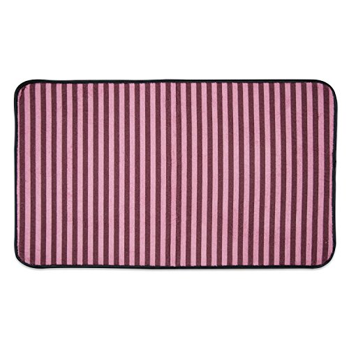 Bone Dry DII Non Slip Small Stripe Pet Cage Mat, 14x24, Absorbent Non Scratch Under Cage Mat for Dogs and Cat, Perfect for Kennels or Crates-Cranberry (Cargo Crate)