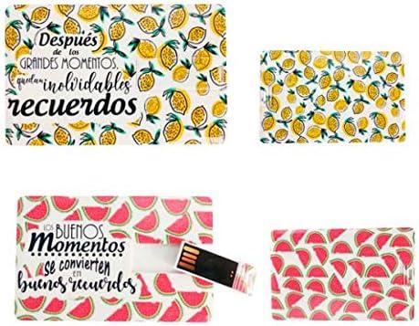 Lote de 10 Memorias USB Pendrives Frases Inolvidables Recuerdos 8GB Detalles Originales Invitados de Bodas, Regalos Comuniones y Recuerdos para Cumpleaños Infantiles