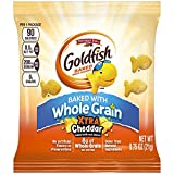 Goldfish Baked with Whole Grain Xtra Cheddar Crackers, 0.75 Ounce - 300 per case.