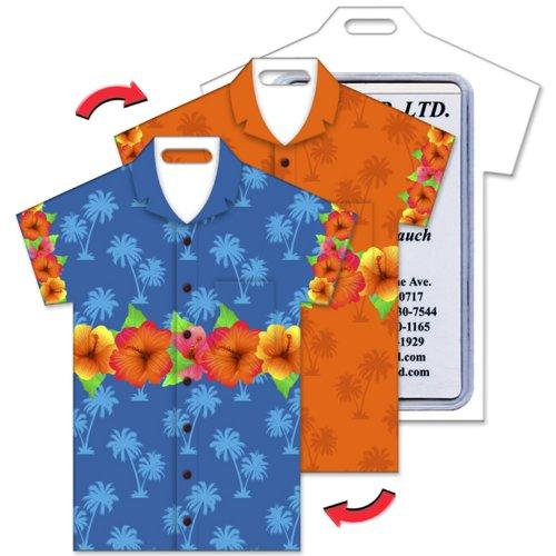 Shape, Hawaiian Flowers Lenticular Flip Effect (Hawaiian Shirt Luggage Tag)
