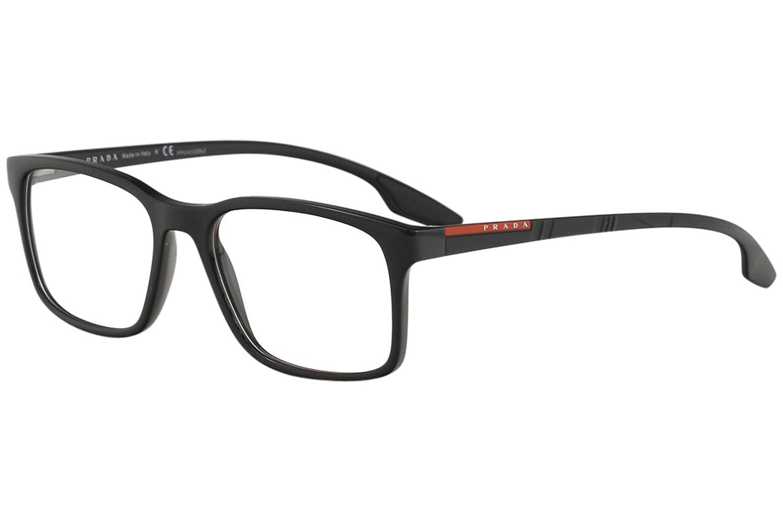 2608469cb5 Prada Linea Rossa Eyeglasses VPS01L VPS 01L 1AB 1O1 Black Optical Frame  54mm at Amazon Men s Clothing store