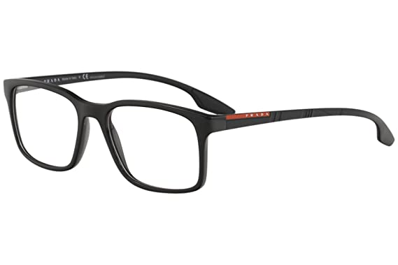 Prada Linea Rossa Eyeglasses VPS01L VPS/01L 1AB/1O1 Black Optical ...