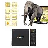 HONGTOP M9X Android Smart TV Box Amlogic S905 Chipset Kodi 16.0 Full Loaded Android 5.1 Lollipop OS TV Box Quad Core 4K Bluetooth 4.0 Streaming Media Players with Wi-Fi HDMI DLNA (3G+32G)