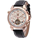Forsining Rose Gold Color Bezel Alloy Case Brilliant Automatic New Trendy Men Watch