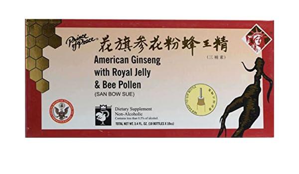 El ginseng americano con jalea real y polen de abeja, 10 botellas - Príncipe de la Paz: Amazon.es: Salud y cuidado personal