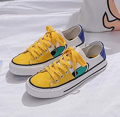 Fashion Casual Yellow Duck Canvas Shoes